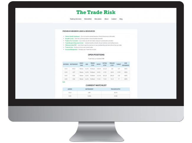 Members Page Monitor Swing Trade Alerts Icon