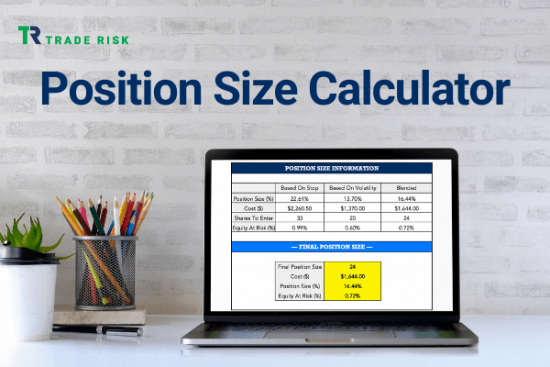 The Trade Risk Position Size Calculator Product Image