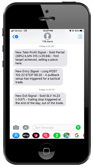Swing Tarade Alerts Mobile - Image of Mobile Notifications