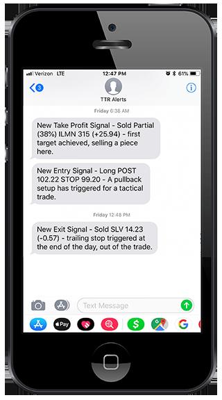 Swing Tarade Alerts Mobile - Image of Mobile Notifications